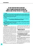 Đề xuất biện pháp nâng cao hiệu quả công tác nghiên cứu khoa học của sinh viên trường Đại học Sư phạm Thể dục Thể thao Hà Nội