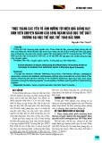 Thực trạng các yếu tố ảnh hưởng tới hiệu quả giảng dạy sinh viên chuyên ngành Cầu lông ngành Giáo dục thể chất trường Đại học Thể dục Thể thao Bắc Ninh