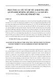 Phân tích các yếu tố chủ yếu ảnh hưởng đến quyết định mở rộng mô hình ca cao xen dừa của nông hộ tỉnh Bến Tre