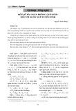 Một số bài toán không giải được đối với ngôn ngữ tuyến tính