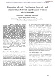 Computing a security architecture anonymity and traceability in network layer based on wireless mesh networks