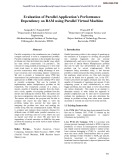 Evaluation of parallel application's performance dependency on ram using parallel virtual machine