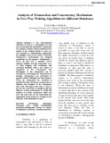 Analysis of transaction and concurrency mechanism in two way waiting algorithm for different databases
