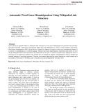Automatic word sense disambiguation using wikipedia link structure