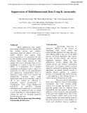 Suppression of multidimensional data using k-anonymity