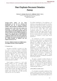 Near duplicate document detection survey