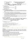 Đề thi chọn học sinh giỏi cấp tỉnh môn Tiếng Anh 9 năm 2015-2016 có đáp án - Sở GD&ĐT Phú Thọ