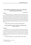 Phát triển nguồn nhân lực du lịch cho vùng duyên hải Nam Trung Bộ