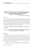 Nghiên cứu sự hài lòng của khách hàng đối với các ngân hàng thương mại ở thành phố Rạch Giá, tỉnh Kiên Giang