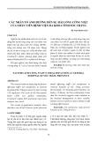 Các nhân tố ảnh hưởng đến sự hài lòng công việc của nhân viên Bệnh viện Đa khoa tỉnh Sóc Trăng