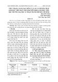 Thực trạng giảng dạy môn Lý luận và Phương pháp giáo dục thể chất cho sinh viên khoa Giáo dục tiểu học trường Đại học Sư phạm thành phố Hồ Chí Minh