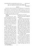 Đặc sắc ngôn ngữ thơ Nguyễn Công Trứ