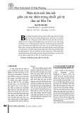 Phân tích mối liên kết giữa các tác nhân trong chuỗi giá trị dừa tại Bến Tre