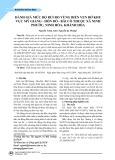 Đánh giá mức độ rủi ro vùng biển ven bờ khu vực Mỹ Giang - Hòn Đỏ - Bãi Cỏ thuộc xã Ninh Phước, Ninh Hòa, Khánh Hòa