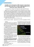 Nghiên cứu ứng dụng viễn thám và GIS đánh giá sự dịch chuyển và thay đổi độ rộng cửa sông Đà Nông tỉnh Phú Yên