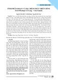 Tính phân đoạn và đặc điểm phát triển sông Gianh (đoạn Cô Cang - Cửa Gianh)