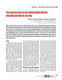 Tiềm năng ứng dụng của nấm Purpureocillium lilacinum trong kiểm soát bệnh hại cây trồng