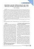 Giới thiệu chương trình giám sát việc thực hiện quy trình dự báo khí tượng thủy văn