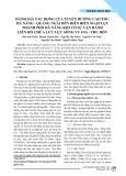 Đánh giá tác động của tuyến đường cao tốc Đà Nẵng - Quãng Ngãi đến diễn biến ngập lụt thành phố Đà Nẵng khi có sự vận hành liên hồ chứa lưu vực sông Vu Gia - Thu Bồn