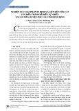 Nghiên cứu giải pháp ổn định và liên kết cồn cát ven biển thành đê biển tự nhiên xã Cát Tiến, huyện Phù Cát, tỉnh Bình Định