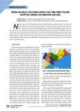 Đánh giá nhu cầu dùng nước của tỉnh Bình Thuận dưới tác động của biến đổi khí hậu