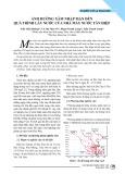Ảnh hưởng xâm nhập mặn đến quá trình lấy nước của nhà máy nước Tân Hiệp