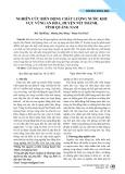 Nghiên cứu biến động chất lượng nước khu vực vũng An Hòa, huyện Núi Thành, tỉnh Quảng Nam