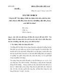 Bài thu hoạch: Chuyên đề xây dựng ý thức tôn trọng nhân dân, phát huy dân chủ, chăm lo đời sống nhân dân theo tư tưởng, đạo đức, phong cách Hồ Chí Minh