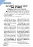 Phân tích đặc điểm khí tượng - thuỷ - hải văn và môi trường phục vụ qui hoạch xã Thạnh An huyện Cần Giờ năm 2020