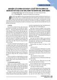 Nghiên cứu đánh giá nguy cơ dễ tổn thương do biến đổi khí hậu cho khu kinh tế Nhơn Hội, Bình Định
