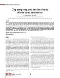 Ứng dụng sóng siêu âm tần số thấp để tiền xử lý bùn hữu cơ