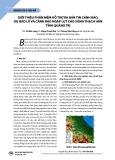 Giới thiệu phần mềm hỗ trợ ra bản tin cảnh báo, dự báo lũ và cảnh báo ngập lụt cho sông Thạch Hãn tỉnh Quảng Trị