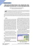 Ứng dụng hệ thông tin địa lý (GIS) trong việc cung cấp thông tin dự báo nguy cơ cháy rừng Bình Phước