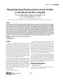 Đánh giá hàm lượng 20-hydroxyecdysone các loài cây thuốc ở Vườn quốc gia Tam Đảo và vùng đệm