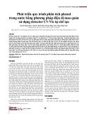 Phát triển quy trình phân tích phenol trong nước bằng phương pháp điện di mao quản sử dụng detector UV/Vis tự chế tạo
