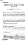 Ứng dụng MIKE11 mô phỏng chất lượng nước sông Ba, Gia Lai theo các kịch bản phát triển kinh tế xã hội