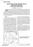 Đánh giá mức độ mất cân bằng che phủ trên lưu vực sông Chu (phần lãnh thổ Việt Nam)