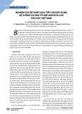 Nghiên cứu đề xuất cách tiếp cận xây dựng hệ thống dự báo tổ hợp hạn vừa cho khu vực Việt Nam