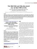 Xác định hiệu quả hấp phụ amoni của vật liệu EBB cải tiến
