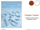 Lecture Auditing and assurance services (International edition) - Chapter 12: Auditing the human resource management process