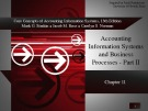 Lecture Core concepts of accounting information systems (13th Edition): Chapter 11 - Simkin, Norman, Rose