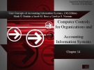 Lecture Core concepts of accounting information systems (13th Edition): Chapter 14 - Simkin, Norman, Rose