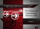 Lecture Core concepts of accounting information systems (13th Edition): Chapter 6 - Simkin, Norman, Rose