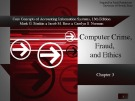 Lecture Core concepts of accounting information systems (13th Edition): Chapter 3 - Simkin, Norman, Rose
