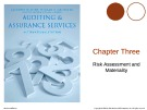 Lecture Auditing and assurance services (International edition) - Chapter 3: Risk assessment and materiality