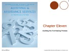 Lecture Auditing and assurance services (International edition) - Chapter 11: Auditing the purchasing process