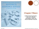 Lecture Auditing and assurance services (International edition) - Chapter 15: Auditing financing process: long-term liabilities, stockholders' equity and income statement accounts