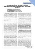 Huy động nguồn lực tài chính từ khu vực kinh tế tư nhân trong ứng phó với biến đổi khí hậu ở Việt Nam