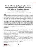 Bào chế và đánh giá động học phóng thích viên nén metformin hydroclorid 750 mg phóng thích kéo dài với hệ tá dược tạo khung matrix thân nước