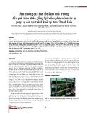 Ảnh hưởng của một số yếu tố môi trường đến quá trình nhân giống Spirulina platensis nước lợ phục vụ sản xuất sinh khối tại tỉnh Thanh Hóa